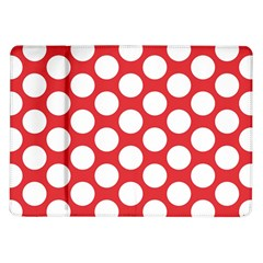 Red Polkadot Samsung Galaxy Tab 10.1  P7500 Flip Case