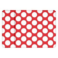 Red Polkadot Samsung Galaxy Tab 8 9  P7300 Flip Case