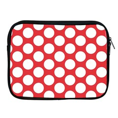 Red Polkadot Apple iPad Zippered Sleeve