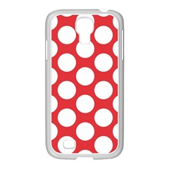 Red Polkadot Samsung GALAXY S4 I9500/ I9505 Case (White)