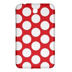 Red Polkadot Samsung Galaxy Tab 3 (7 ) P3200 Hardshell Case