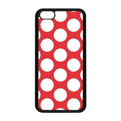 Red Polkadot Apple iPhone 5C Seamless Case (Black)