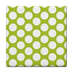 Spring Green Polkadot Ceramic Tile