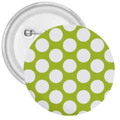Spring Green Polkadot 3  Button