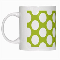 Spring Green Polkadot White Coffee Mug