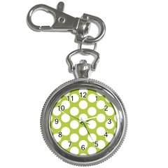 Spring Green Polkadot Key Chain Watch