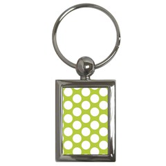 Spring Green Polkadot Key Chain (Rectangle)