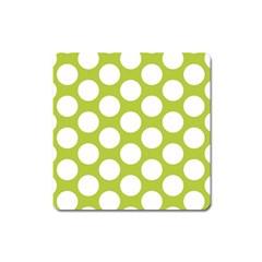 Spring Green Polkadot Magnet (Square)