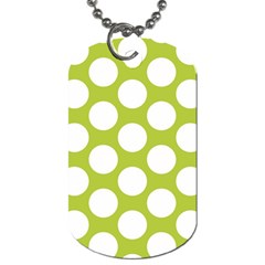 Spring Green Polkadot Dog Tag (One Sided)