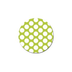 Spring Green Polkadot Golf Ball Marker