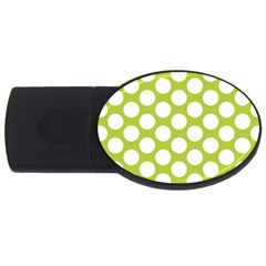 Spring Green Polkadot 2GB USB Flash Drive (Oval)