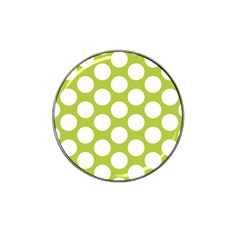 Spring Green Polkadot Golf Ball Marker 4 Pack (for Hat Clip)