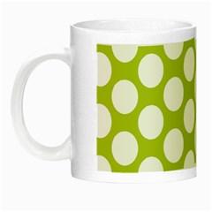 Spring Green Polkadot Glow in the Dark Mug