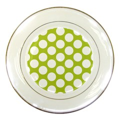 Spring Green Polkadot Porcelain Display Plate