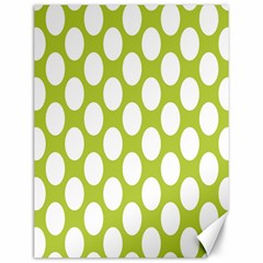 Spring Green Polkadot Canvas 12  x 16  (Unframed)