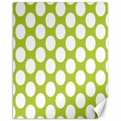 Spring Green Polkadot Canvas 16  X 20  (unframed)