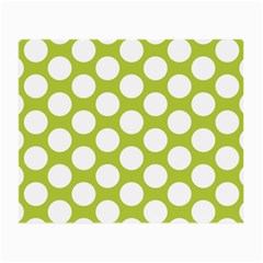 Spring Green Polkadot Glasses Cloth (Small, Two Sided)