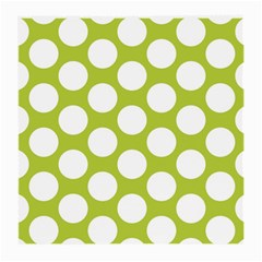 Spring Green Polkadot Glasses Cloth (medium, Two Sided)