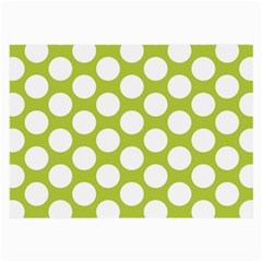 Spring Green Polkadot Glasses Cloth (large, Two Sided)