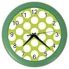 Spring Green Polkadot Wall Clock (Color)