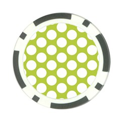 Spring Green Polkadot Poker Chip
