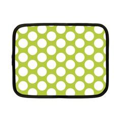 Spring Green Polkadot Netbook Sleeve (Small)
