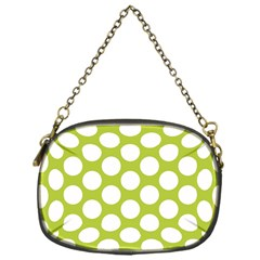 Spring Green Polkadot Chain Purse (One Side)