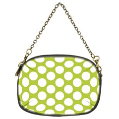 Spring Green Polkadot Chain Purse (Two Sided)
