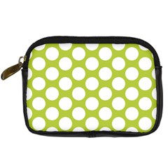 Spring Green Polkadot Digital Camera Leather Case