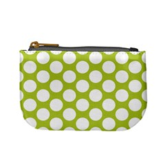 Spring Green Polkadot Coin Change Purse