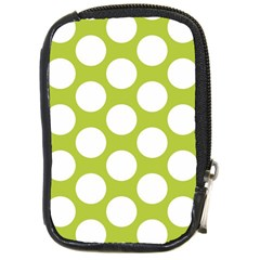 Spring Green Polkadot Compact Camera Leather Case