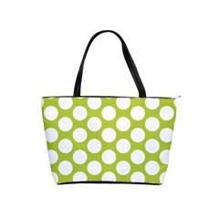 Spring Green Polkadot Large Shoulder Bag