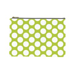 Spring Green Polkadot Cosmetic Bag (Large)