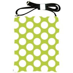 Spring Green Polkadot Shoulder Sling Bag