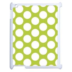 Spring Green Polkadot Apple iPad 2 Case (White)