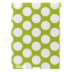 Spring Green Polkadot Apple Ipad 3/4 Hardshell Case (compatible With Smart Cover)