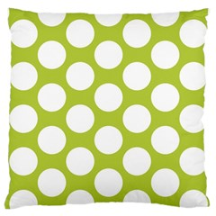 Spring Green Polkadot Large Cushion Case (Two Sided)