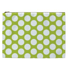 Spring Green Polkadot Cosmetic Bag (xxl)