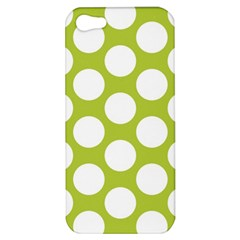 Spring Green Polkadot Apple Iphone 5 Hardshell Case