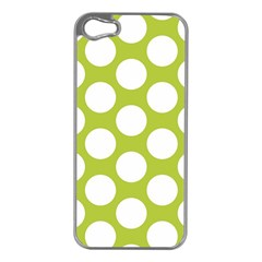 Spring Green Polkadot Apple iPhone 5 Case (Silver)