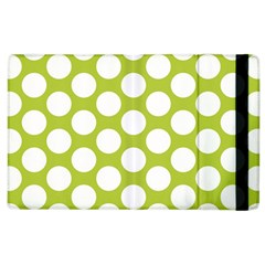 Spring Green Polkadot Apple Ipad 2 Flip Case
