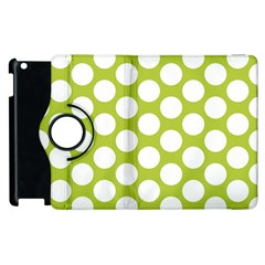 Spring Green Polkadot Apple iPad 3/4 Flip 360 Case