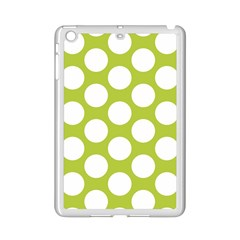 Spring Green Polkadot Apple iPad Mini 2 Case (White)