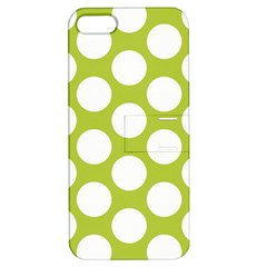 Spring Green Polkadot Apple Iphone 5 Hardshell Case With Stand