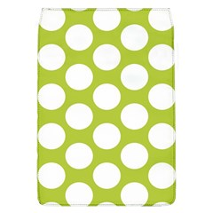 Spring Green Polkadot Removable Flap Cover (large)