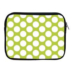 Spring Green Polkadot Apple iPad Zippered Sleeve
