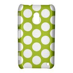 Spring Green Polkadot Nokia Lumia 620 Hardshell Case