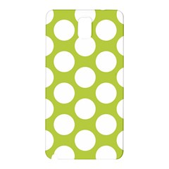 Spring Green Polkadot Samsung Galaxy Note 3 N9005 Hardshell Back Case