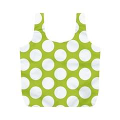 Spring Green Polkadot Reusable Bag (m)
