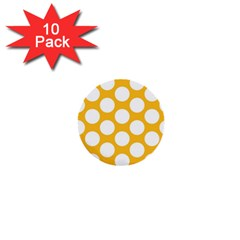 Sunny Yellow Polkadot 1  Mini Button (10 pack)